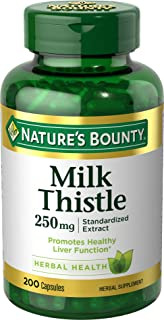 Natures Bounty 自然之宝 奶蓟丸胶囊补充剂,有益于肝脏,250 毫克,200 粒
