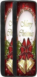 Yiekeluo Merry Christmas 红铃 冰箱门把手 厨房电器 冰箱 微波炉 洗碗机门 布套 全套 2 件装