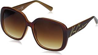 Vince Camuto 女式 VC855 超大方形太阳镜带签名标志和 * 防紫外线,68 毫米