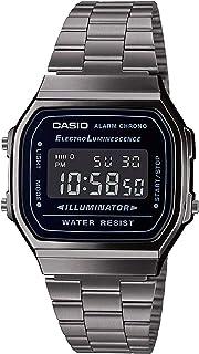Casio 卡西欧 男士数码日本石英手表 不锈钢表链 A168WEGG-1BEF