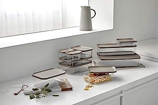 Litem 食品容器套装 适合家庭 - 10 包,3 种尺寸 棕色
