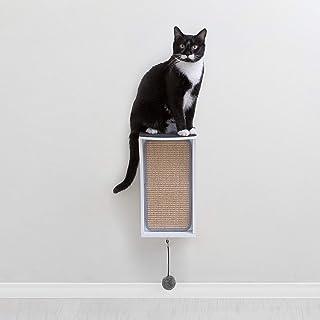 Primetime Petz Hauspanther CATchall - 壁挂式猫爬架玩具收纳盒 & Perch 白色 均码