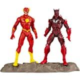 McFarlane Toys DC 多元宇宙地球 - 52 蝙蝠侠(红色死亡)和闪电侠 7 英寸(约 17.8 厘米)动…