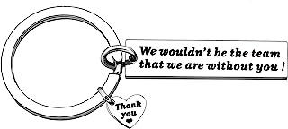 YONGHUI 钥匙链 钥匙圈 适用于 Leader Boss Coach Members 男士 女士 感谢礼物 银色