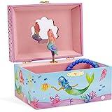 JewelKeeper 矩形音乐盒 Mermaid Blue and Pink A1326