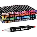AGPtEK 永久双头马克笔 60 Colors Marker Pen