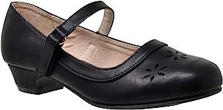 SOBEYO 儿童礼服鞋玛丽珍包头女童低跟花朵镂空 SBO-JANE-46