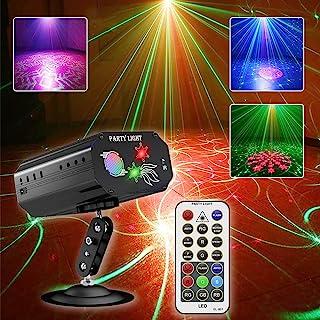 派对灯迪斯科 DJ 灯,舞台灯,带声音激活和遥控多种模式灯光投影仪激光灯,适用于生日酒吧俱乐部婚礼圣诞节 KTV 卡拉OK节日