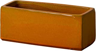 Emissary Home & Garden Burnt 橙色窗盒花盆 SM,6 英寸(约 15.2 厘米)高