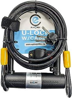 BlueRev 自行车 U 型锁,带 1800 毫米线和 3 个钥匙