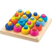 HABA 木栓调色板 - 32 件木制追溯与安排游戏适合 2 岁及以上儿童
