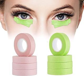 8 卷睫毛胶带,BILISTONE 睫毛胶带,自粘透气微孔织物胶带,睫毛延长带,眼下贴片,低*性,0.5 英寸,10 码