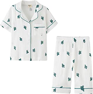 ACESTAR 幼儿女童男童睡衣套装 夏季 2 件套短袖睡衣套装 儿童 * 纯棉系扣睡衣(3-7 岁)