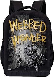 MARVEL COMICS 经典蜘蛛背包 - 漫威黑蜘蛛 45.72 厘米空气网格填充包 Spiderman 蜘蛛网床 Wonder Gold 18 x 12 x 6