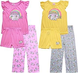 Mon Petit 女婴睡衣 - 短袖 T 恤,睡裤和运动裤(6 件)