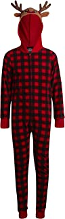 PJ's & Presents 女童睡衣 - 圣诞连帽衫连体衣羊毛毯睡衣