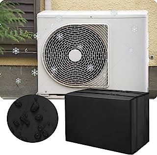 智能窗空调罩,黑色外窗 AC 机罩,防尘防水交流罩户外窗户 AC 冬季保护罩(16.9 宽 x 13.8 深 x 12.6 高)