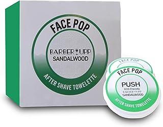BarberUpp,剃须后、檀香古老香味,20 次使用,男士剃须后20次一次性剃须纸巾,旅行装,非常适合您的剃须套件,舒缓剃须刺激。