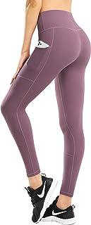 HOFI 女式高腰瑜伽裤侧边和内袋,带收腹运动打底裤