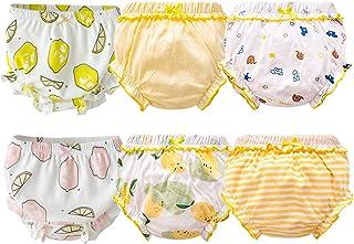 Orinery 纯棉女婴开衫婴儿三角裤 幼儿褶边各种内裤 6 件装