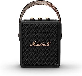 Marshall 马歇尔 Stockwell II便携式蓝牙扬声器-黑色和黄铜色