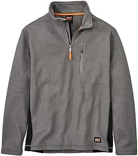 Timberland PRO 男式 A1HGK Studwall 四分之一拉链纹理羊毛衫