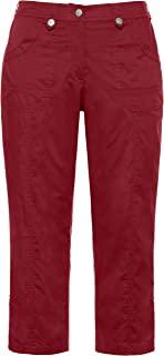 Ulla Popken 女士尺码,工装裤带卷腿裤