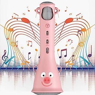 TOSING 卡拉 OK 麦克风带蓝牙和语音转换器,儿童唱歌玩具麦克风,*佳生日礼物和玩具,适合 4 5 6 7 8 9 10 11 岁以上女孩