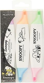 Snoopy 史努比 荧光笔 套装 双标记 3支 4229086