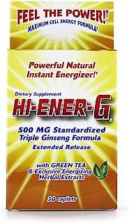 Hi-EnerG Triple Ginseng Energy Supplement, 500 mg, 20 servings