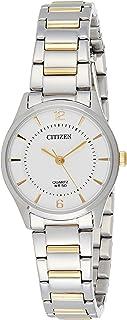Citizen 西铁城 女士指针式石英手表 不锈钢表链 ER0201-72A