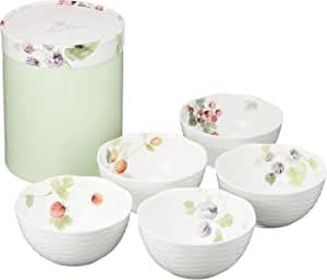 NARUMI 鸣海 Lucy Garden系列 餐碗碟组合 直径110×高55mm 5件套 可微波炉加热、洗碗机使用 96010-21902P