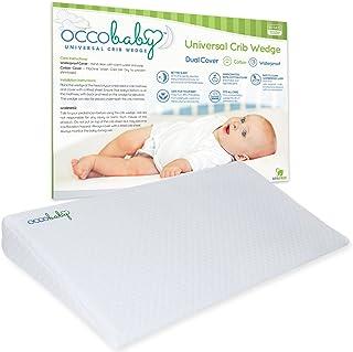 OCCObaby 婴儿床垫通用婴儿床楔形枕头 — 防水层和手工制作棉可拆卸套 — 12 度倾斜度带来更好的夜间*