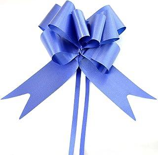 SHATCHI 大号 50 毫米/5 厘米丝带拉蝴蝶结,适合派对墙壁,礼品包装,圣诞树,婚礼,生日礼篮装饰花店,*蓝,20 件