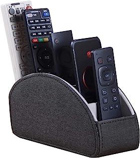 一体式皮革电视带 5 个隔层,CD 媒体播放器,遥控支架,床头柜,遥控器,收纳盒,化妆刷固定台控制器(黑色布)