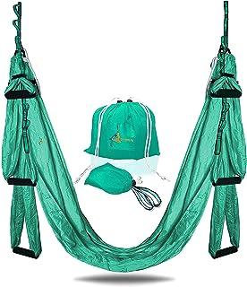 YOGA SWING PRO 高级空中瑜伽吊床梯套件 - 反极力杂技飞行吊带套装,适用于反向*