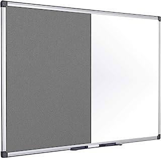 Bi-Office 玛雅组合板 灰色毛毡/磁性 铝制框架 120 x 90厘米