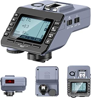 Neewer Q-S TTL 无线闪光触发器,兼容索尼无反光相机和 Q3 NW420 NW655 S101 PRO 单一闪光灯,1/8000s HSS,5 个独立组按钮,重新定位控制轮 AF 辅助灯