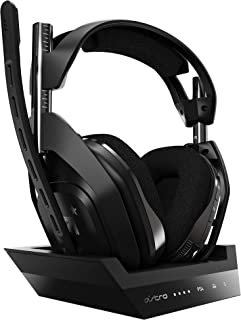 Astro ASTRO A50 WIRELESS + BASE STATION 游戏耳机 无线 A50WL-002 黑色 Dolby Digital 5.1 PS4/PC/Mac 国内正规品 2年厂家保修