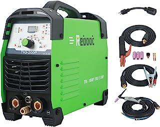 TIG Welder IGBT 脉冲 200 AMP 数字控制 Tig200P 110V / 220V 高频 TIG ARC 焊接机 DC 3 合 1 全数字控制 HF 启动焊接 高空循环逆变器