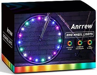 Anreew LED 自行车轮灯 从各个角度更明亮、更明显 *和风格 含电池(2 个轮胎装)