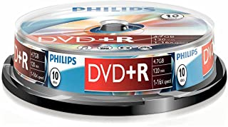 Philips 飞利浦 DVD+R DR4S6B10F/00 - 空白 DVD(4.7 GB,120 分钟,DVD+R)