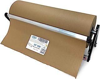 IDL 包装 PD-100 纸卷分配器和切割器,宽度可达 24 英寸(约 60.9 厘米),直径为 10 英寸(约 25.4 厘米)卷 – 水平桌面纸架 – 坚固钢分配器,带牛皮纸或肉夫纸切割器