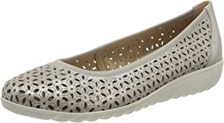 CAPRICE 22161-22 女式经典芭蕾舞鞋,平底鞋,夏季鞋,经典优雅,可拆卸鞋垫