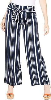 INC International Concepts 女式娇小条纹系腰长裤(条码条纹,2 个小码)