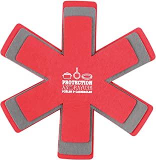 Gimel 523638 羊毛毛毡,涤纶,3件,直径28 – 33 – 35.5厘米,红色和灰色,小号
