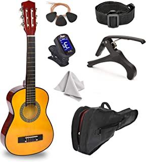 38 英寸(约 96.5 厘米)木质吉他,带盒子和配件,适合儿童/男孩/女孩/青少年/初学者(38 英寸(约 96.5 厘米),蓝色渐变)