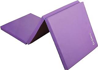 Hemingweigh 三折折叠体操垫,适用于瑜伽、普拉提、武术、拉伸和有氧运动、轻盈、便携