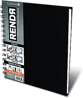 Crescent Creative Products 8 英寸(约 20.3 厘米)RENDR 钢丝装订素描本,8 英寸(约 20.3 厘米)x 8 英寸(约 20.3 厘米)黑色