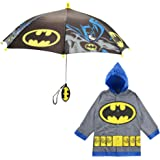 DC Comics 男童蝙蝠侠或超人角色切片机和雨伞套装
